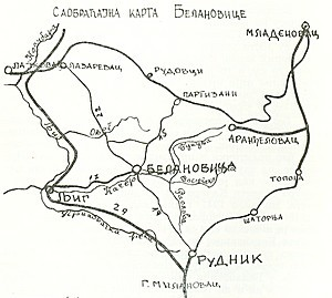Саобраћајна карта Белановице