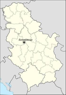 Положај Белановице у републици Србији