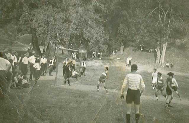 Детаљ са старог игралишта на црквеном плацу