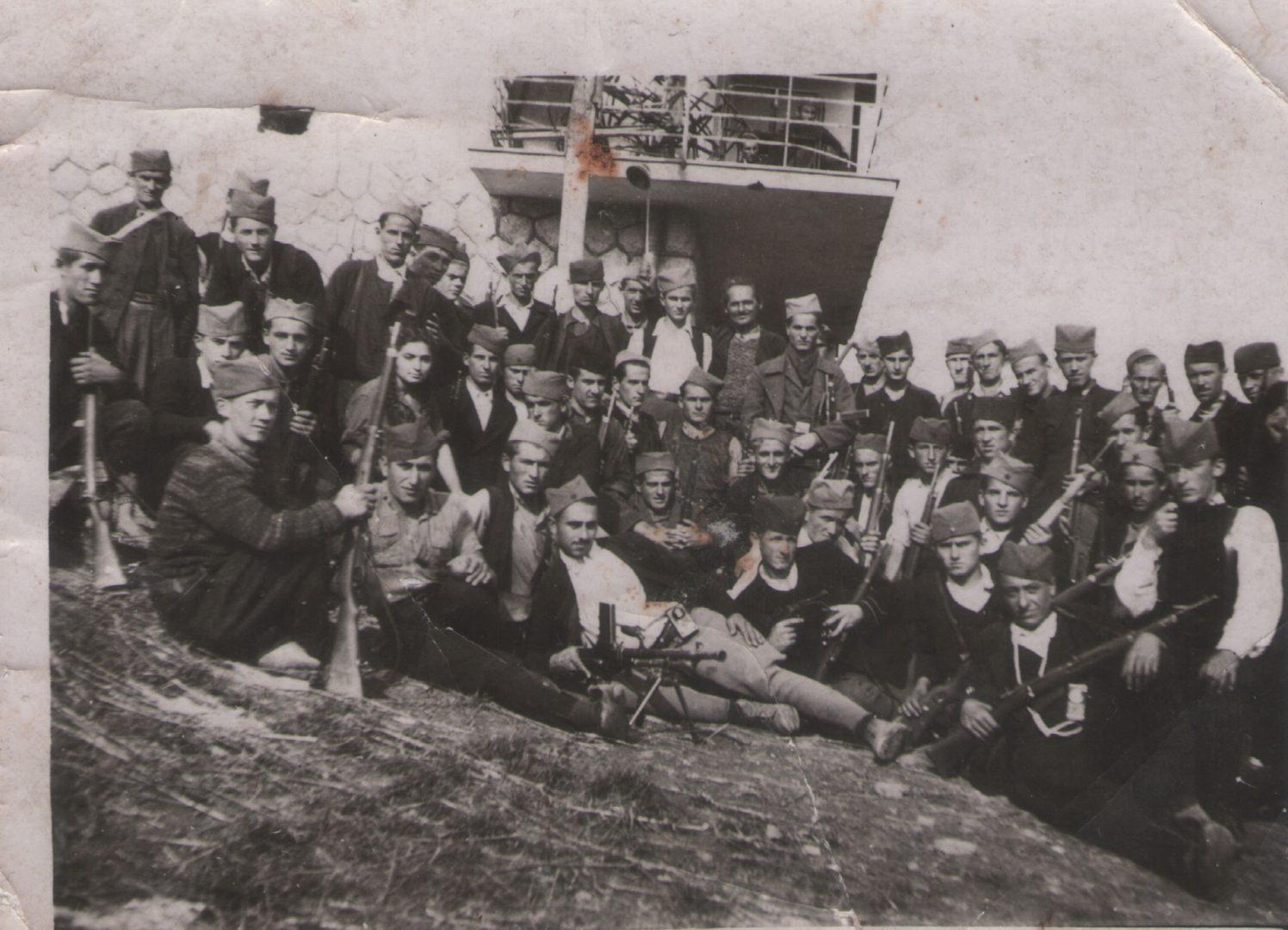 Партизани, Белановица 1944. године