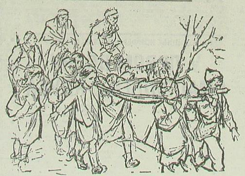 Рањеници, илустрација